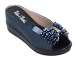 Navy Shoe with Hidden Wedge