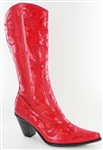 Red Sequin Boots