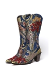 Blue Tapestry Boot