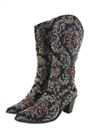 Brown Tapestry Boot