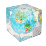 Blue with Relief Map MOVA® Globe Cube