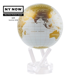 White and Gold MOVA® Globe