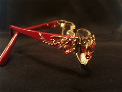 Red Readers with Swarovski Crystal