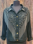 Studded Black Jean Jacket