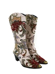 White Tapestry Boot